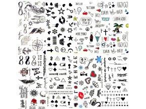 Dekorativní tetovací samolepky LEAF