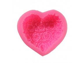 Silikonová forma s květy růže