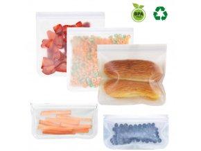 4 ks sáčky na potraviny / uzavíratelné sáčky ZIP