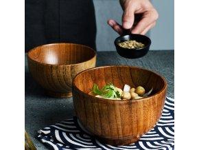 Misky na polévku / dřevěné misky JAPAN
