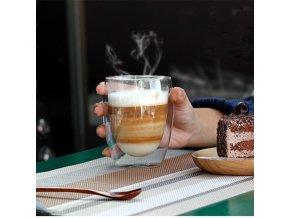 Sklenice na kávu / dvojitá sklenice LATTE