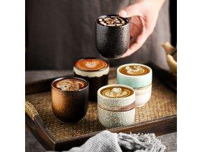 Keramické šálky na kávu / ručně malované hrnečky KATY
