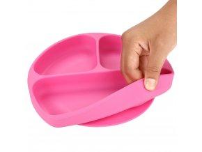 Dětské silikonové nádobí / dětský talířek SMILE