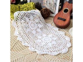 Krajkové prostírání na stůl / krajková podložka na stůl FLOWER