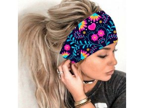 mainimage02021 Women Headpiece Stretch Hot Sale Turban Hair Accessories 1PC Headwear Yoga Run Bandage Hair Bands