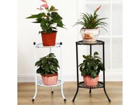 Dvoupatrový stojan na květiny / kovový stojan na květiny ELEGANT