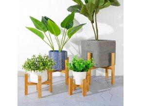 Dřevěný stojan na květiny / stojan na květináče WOODY