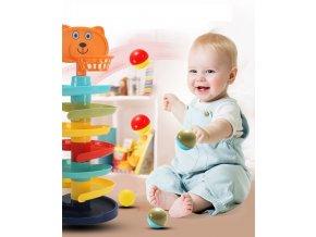 Vzdělávací hračka / strefovací koš TEDDY