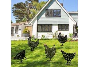 mainimage0Chicken Yard Art Hen easter decoration Backyard Lawn Stakes Plastic Hen Yard Decor Gift Support gift