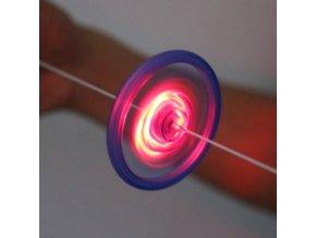 1 main 5pcs new hand pull luminous flashing rope flywheel toy led light up toys novelty flash gyro for childrens birthday funny gift