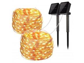 Solární dekorace na zahradu / světelný řetěz GARDEN