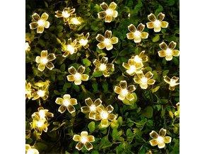 Solární světla / solární dekorace na zahradu / světelné květiny PEACH