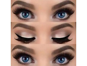 Sada 10 ks šablona na makeup / kočičí oči, kouřové stíny SMOKEY