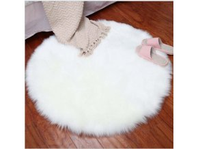 0 variant round soft faux sheepskin fur area rugs for bedroom living room floor shaggy silky plush carpet white faux fur rug bedside rugs