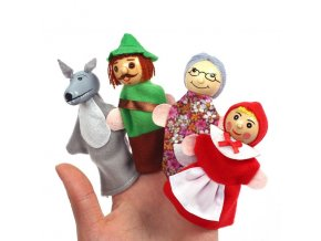 0 variant baby tell story finger puppets three pigs mermaid castle princess cartoon theater role play educational toys for children gifts (1)