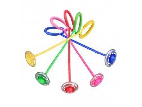Skákací míč na laně / venkovní LED hračka FLASH