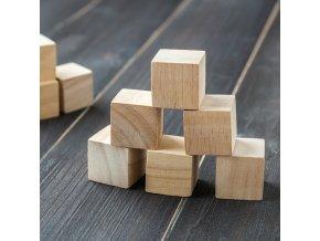 DIY dřevěné kostky / čisté přírodní dřevěné kostky PLAIN