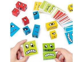 Dřevěné kostky / vzdělávací hra LOGIC