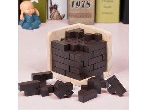 Dřevěné puzzle / 3D puzzle / hlavolam MING