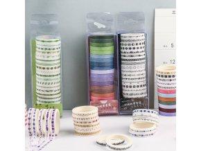 20 ks washi pásky / dekorativní lepící pásky / scrapbooking HAPPY
