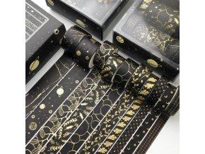 Sada 10 ks washi pásky / pásky na scrapbooking / dekorativní pásky GALAXY
