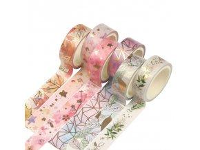 Sada 6 ks washi pásky / dekorativní pásky SCRAPBOOKING