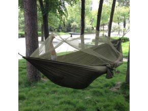 mainimage01 2 Person Portable Outdoor Camping Hammock with Mosquito Net High Strength Parachute Fabric Hanging Bed