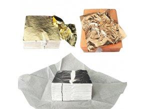 100 ks řemeslný umělecký papír / foliový papír GOLD