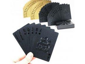 Stylové žolíkové karty / voděodolné karty BLACK
