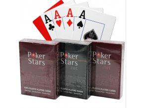 Vodotěsné žolíkové karty / karty na poker POKER STARS