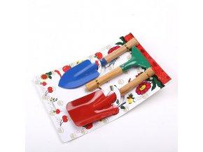 mainimage0Garden Tool Toys 3pcs Set Spade Shovel Rake Boys Toys Planting Tools Kids Sand Beach Toys