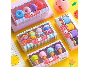 Sada dekorativních gum / dárkové gumy LOLLIPOP