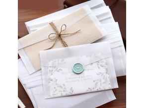 Průhledné obálky / dekorativní obálky 10 ks