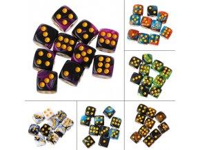 10 ks hrací kostky / stylové kostky MAGIC