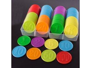 80 ks žetony na poker / hrací žetony CASINO