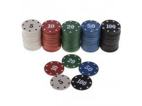 100 ks žetony na poker / pokerové žetony / hrací žetony KNIGHT