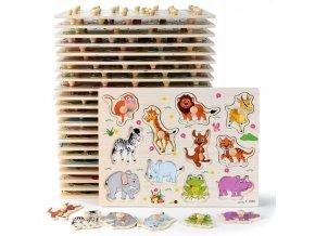 Dřevěné puzzle KIDS