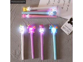 Pera a tužky /gelová pera Unicorn