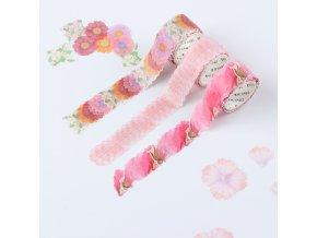 Dekorační páska s květinami FLOWER