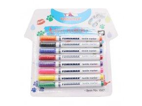 1 variant 8 pcsset clothes textile marker fabric paint pen diy crafts t shirt pigment painting pen school home stationery graffiti supply