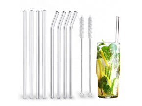 mainimage0High Borosilicate Glass Straws Eco Friendly Reusable Drinking Straw for Smoothies Cocktails Bar Accessories Straws with