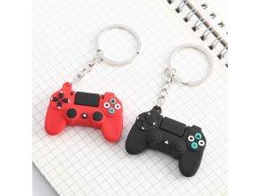 Přívěsek na klíče ve tvaru playstationu / přívěsek na klíče pro hráče PLAYER