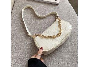 Dámské kabelky / stylová kabelka na rameno s řetězem CROCO
