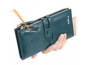 Peněženka s Vašim jménem / peněženka s rytinou na přání BLUEBERRY