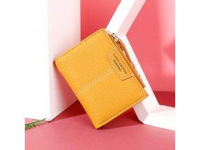 Kožená peněženka / dámské peněženky YELLOW