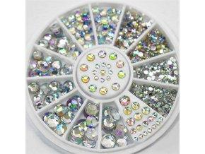 mainimage02mm 3mm 4mm 5mm AB Acrylic Diamond Nail Glitter Nail Rhinestones Crystal DIY Nail art decorations