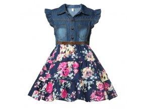Dětské šaty s květinovou sukní