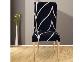 Potahy na židle se vzory / Černý potah na židli s vlnkami MIRACLE