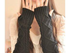 Zimní návleky na ruce / pletené bezprsté rukavice AUTUMN