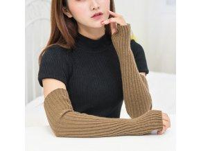 Zimní návleky na ruce / dlouhé bezprsté rukavice KNIT